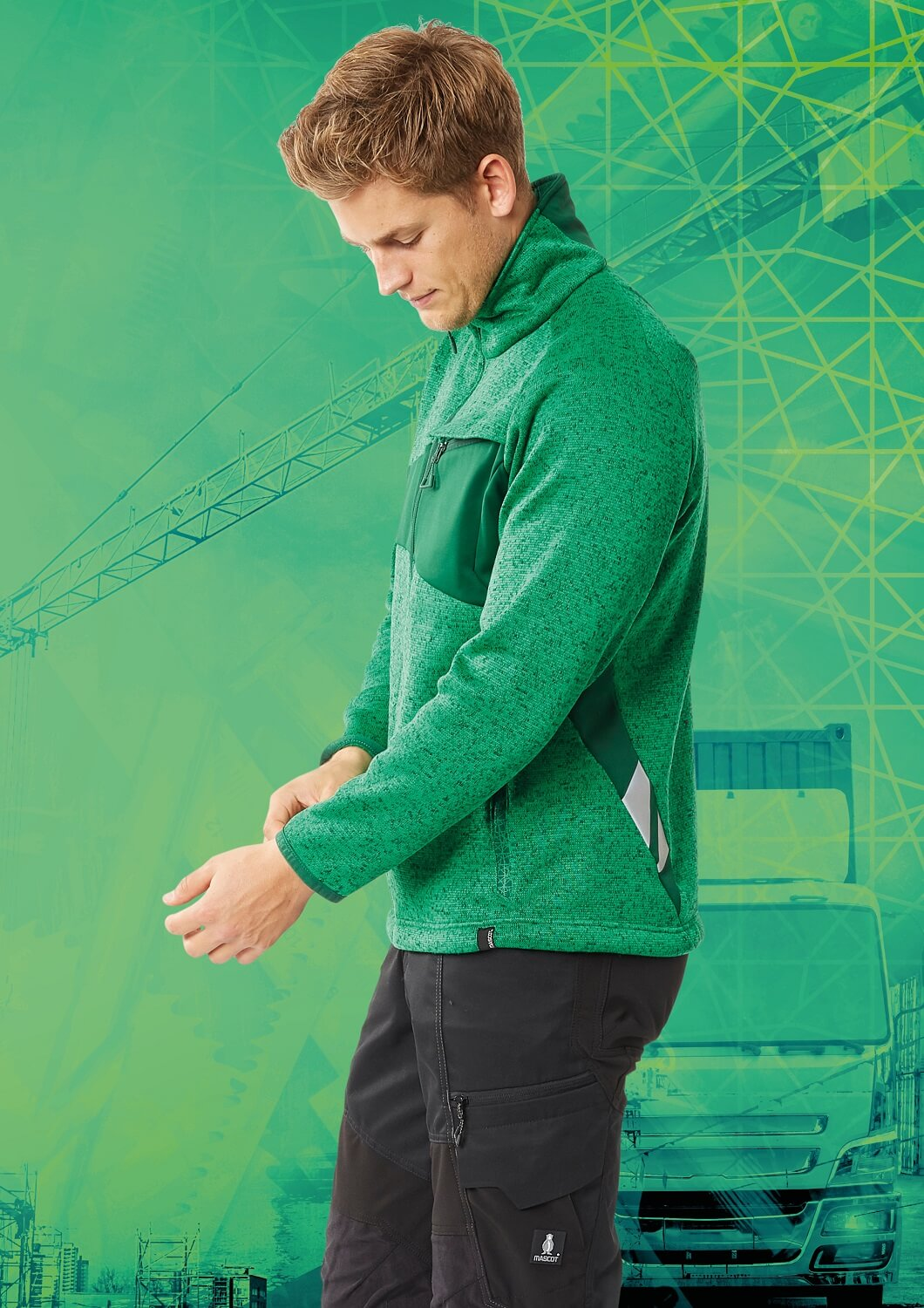 Pantalon & Sweat de travail - MASCOT® ACCELERATE Brand DNA - Vert