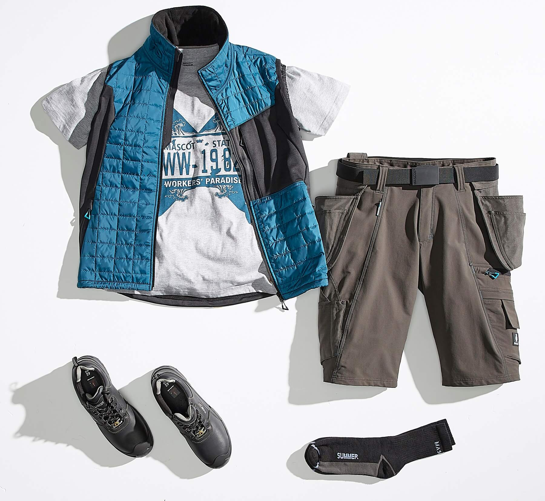 Collage - Gilet, T-shirt & Short - ADVANCED