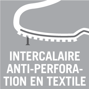 Intercalaire anti-perforation en textile